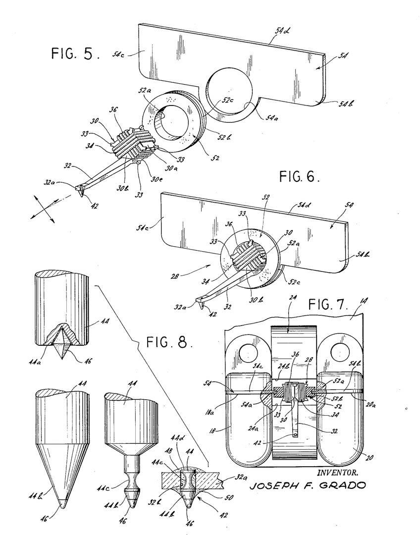 Grado Labs Phono Cartridge Stlus Cantilever Patent